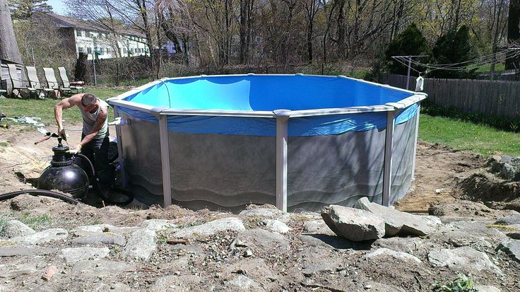15ft X 25ft Installation In Ipswich Ma This Was An Old Style Namco Pool Http Www