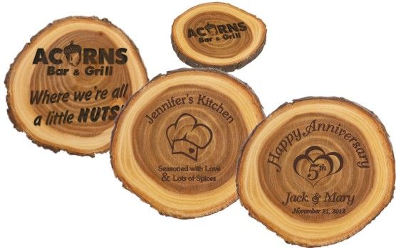 5th Wedding Anniversary Wooden Gifts: #Engraved Wooden Tree Ring Plaques #5th Wedding