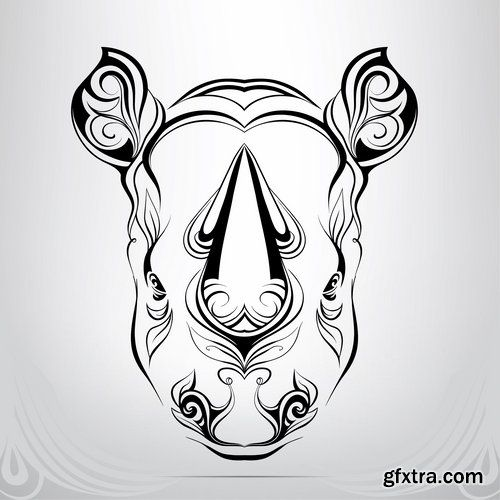 Tattoos of wild animals and zodiac signs - 25 Eps » Vector Photoshop ...