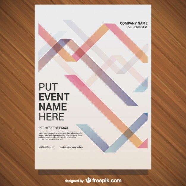 Vector free poster geometric design Free Vector