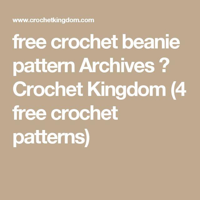 free crochet beanie pattern Archives ⋆ Crochet Kingdom (4 free crochet patterns)