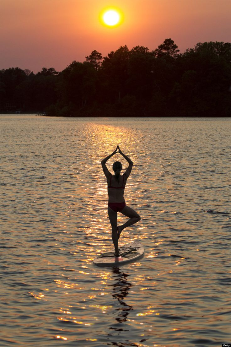 10 Reasons You Should Try Yoga on a Stand Up Paddleboard- from HuffPost  1.  It's a better workout 2.  It will refine your technique 3.  It's more calming 4.  It will help you focus on your breath 5.  It's empowering 6.  It's fun 7.  It's just a touch scary 8.  It teaches you to get back up 9.  It's more challenging 10. It's beautiful