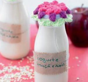 Bimby - receita de iogurte líquido de maçã e aveia
