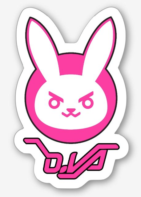 Dva Bunny Sticker available to order now at my store!