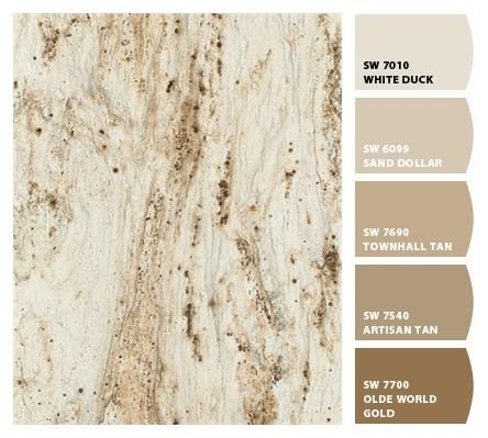 Formica 180fx® River Gold with suggested Sherwin-WIlliams paint colors