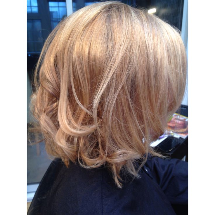 Violet Blonde And Light Blonde Highlights Styled With