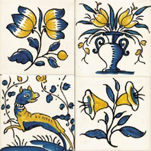 Azulejo Sec XVII Viúva Lamego, Portugal