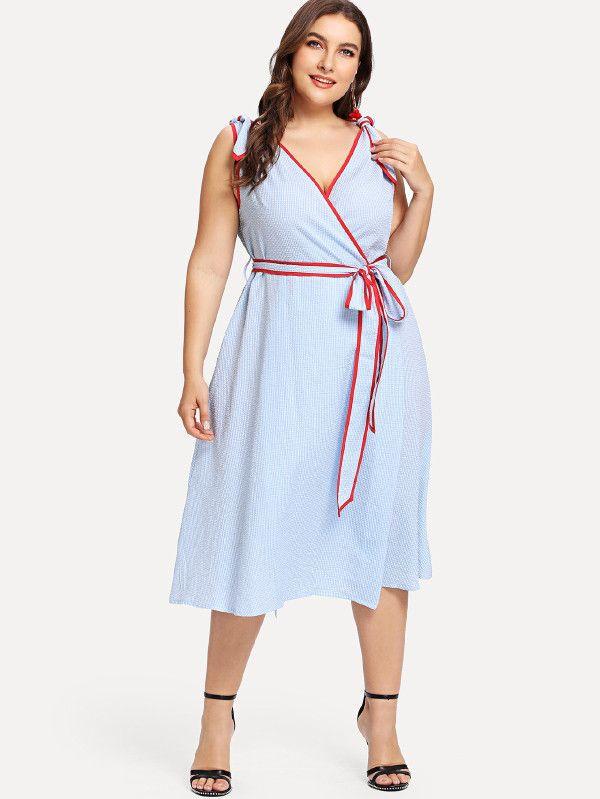 Compre Shein Rojo Tallas Grandes Linterna Manga Larga Cintura Alta Elegante Bodycon Lapiz Vestidos Mujeres Slim