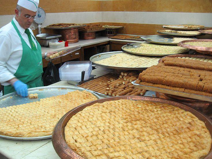 Different Types of Baklava at AbdulRahman Hallab in Tripoli, Lebanon- plus an easy to prep Baklava rolls recipe
