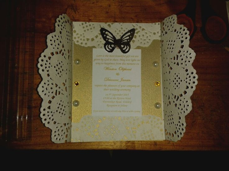 NLW Crafts doily invitation