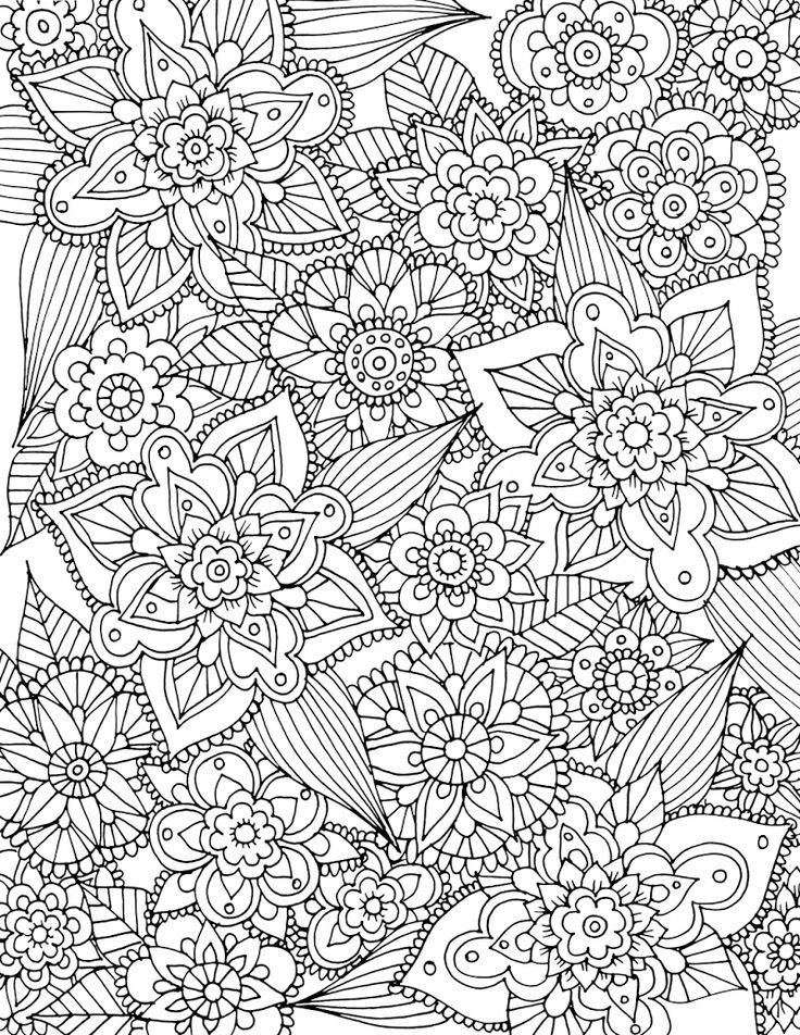 1569 best Adult Coloring Therapy images on Pinterest Coloring - copy coloring pages with hearts and flowers