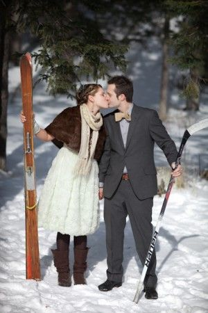 Skiing Engagement...wish I would have thought of this!  Awesome!