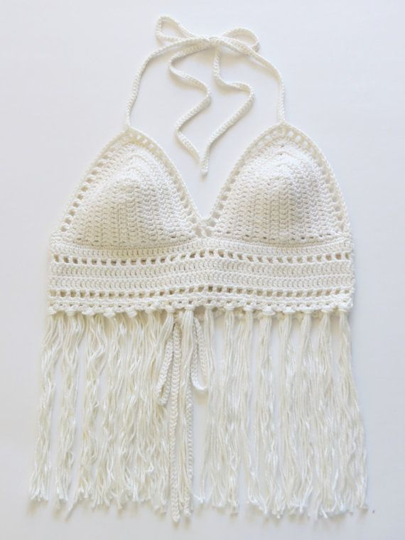 Crochet Halter Top Pattern & Festival Crop Top by DeborahOLearyPattern