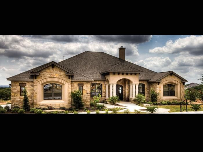 Mediterranean san antonio exterior of home pinterest Custom home plans texas