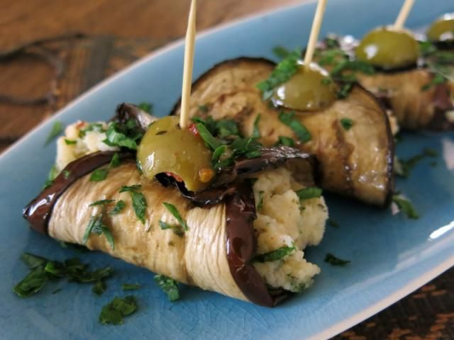Eggplant Rolls bring simple yet delicious Mediterranean flavours together.