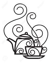 Resultado de imagem para tea cup drawing