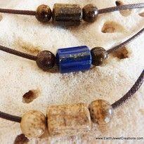 Lapis Bronzite Neckband