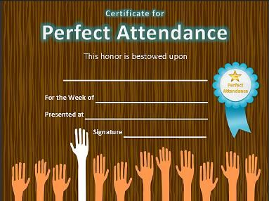 Free Perfect Attendance Certificate...                                                                                                                                                                                 More