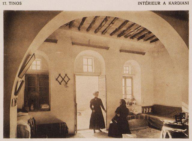 1919.Interior of a house at Kardiani, Tinos.