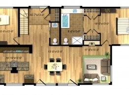 Plan de maison de la Simon (1 étage)