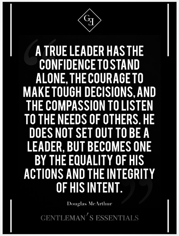 leadership and integrity