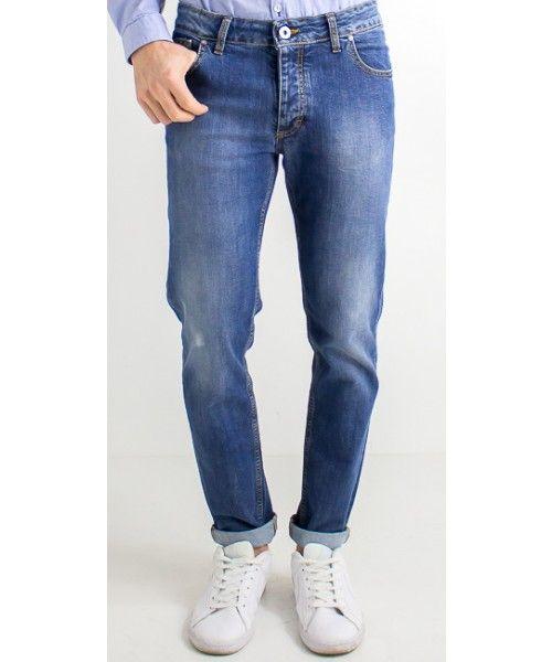 Jeans denim scuro dalla vestibilità slim, in cotone - Enjoy