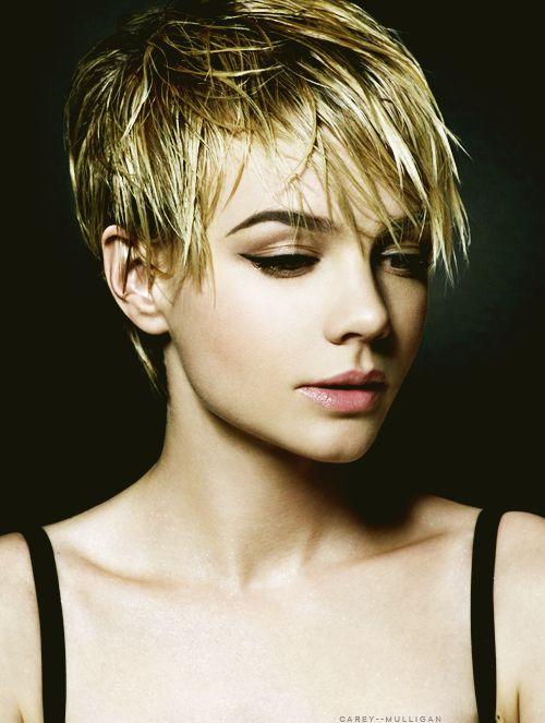 .Hairstyles, Shorts Hair, Carey Mulligan, Makeup, Beautiful, Hair Style, Careymulligan, Shorts Cut, Pixie Cut