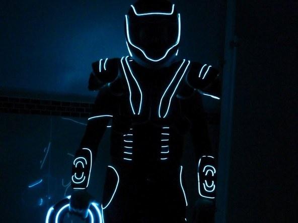 EZ-EL Wire Tron Costume