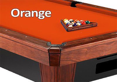 Other Billiards Accs and D cor 21210: 12 Simonis 860 Orange Billiard Pool Table Cloth Felt -> BUY IT NOW ONLY: $557 on eBay!