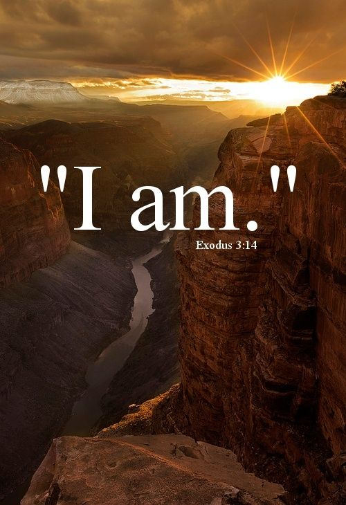 "Exodus 3:14 New International Version (NIV) 14 God said to Moses, ""I am who I am.[a] This is what you are to say to the Israelites: 'I am has sent me to you.'"""