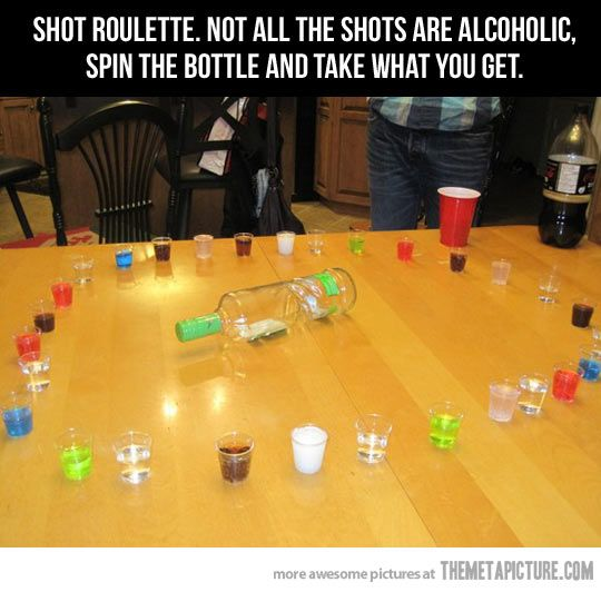 Would be fun to try with random drinks. Some being funny tasting and others good. Fun party game and it's not even necessary to use alcohol.