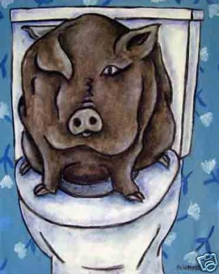 Pig in the Bathroom