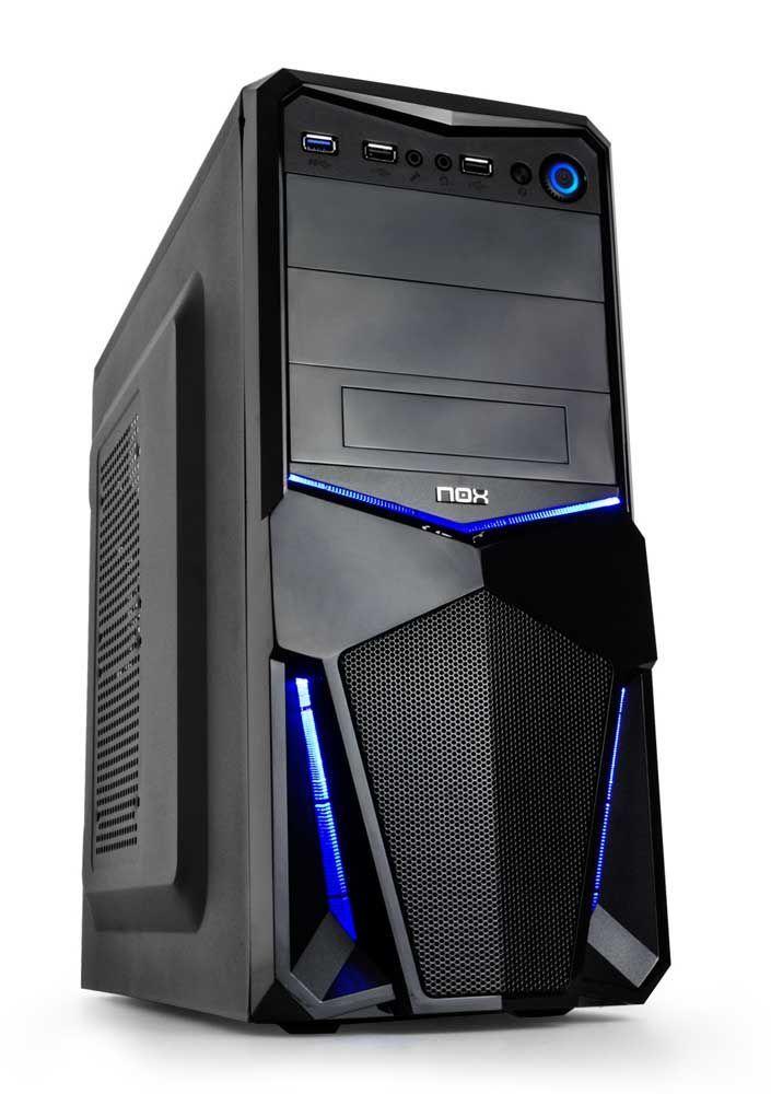 TodoparaelPC os presenta la caja para PC Nox-xtreme PAX, una torre que incorpora el nuevo chasis Nox PAX a su serie Origin. Compuesta por una estructura de Acero SGCC, LEDs brillantes en el panel frontal y conexión USB 3.0 de alta velocidad. Calidad y elegancia en formato semitorre.