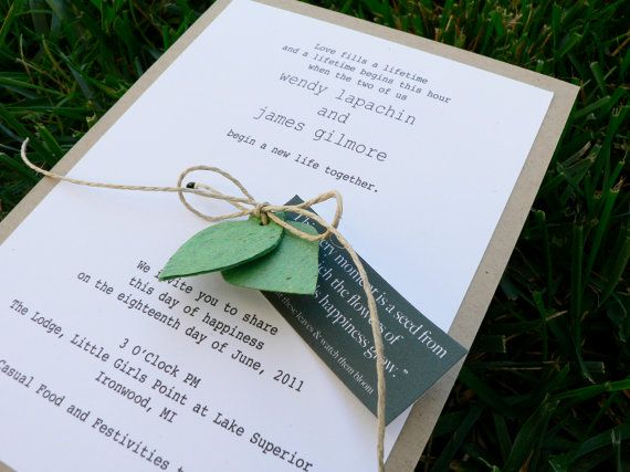 Environmentally Friendly Wedding Invitations: 17 Best Images About Eco-Friendly Wedding Ideas On