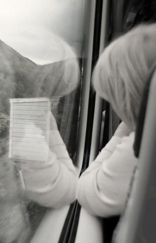Time to reflect, traveling by train.  #train #travel #photography #perspective #Blackandwhite