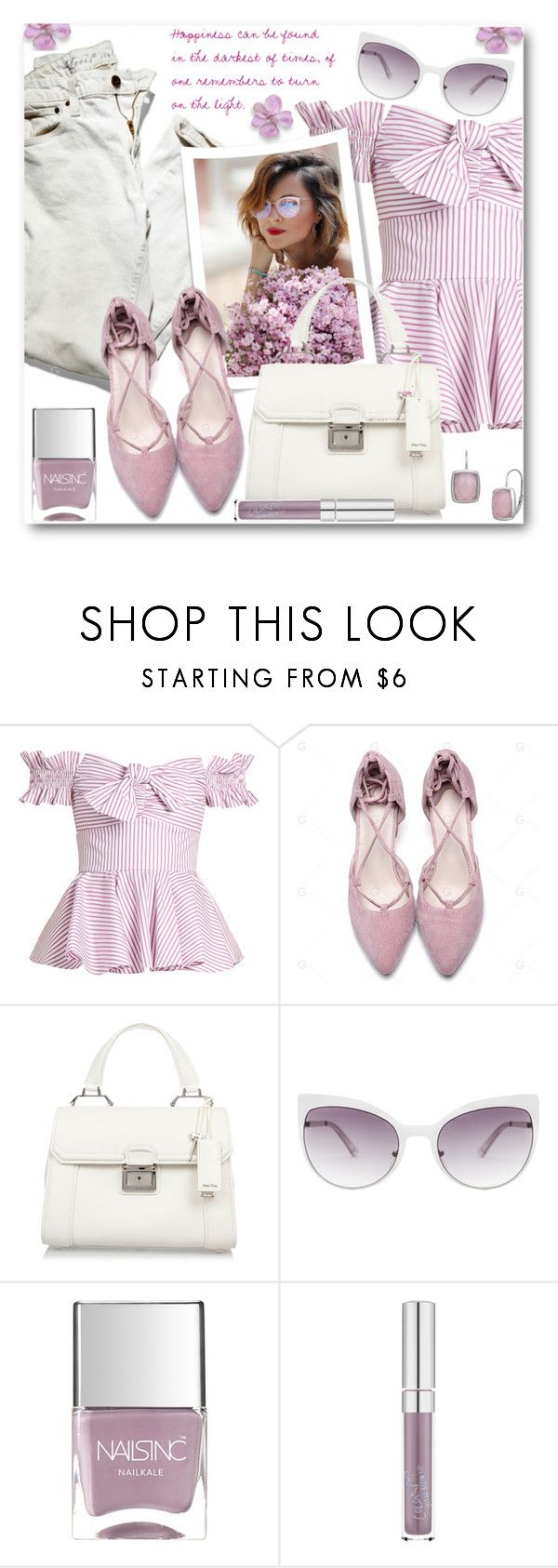 """Happiness Can Be Found in the Darkest of Times!"" by brendariley-1 ❤ liked on Polyvore featuring Caroline Constas, Miu Miu, Skinnydip and Nails Inc."