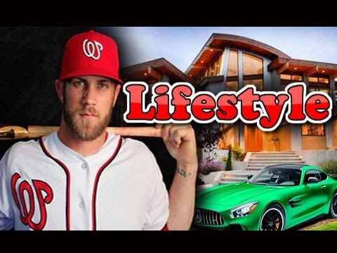 Bryce Harper Biography ● Wife ● Cars ● Salary ● Net Worth ● Income ● Lif...