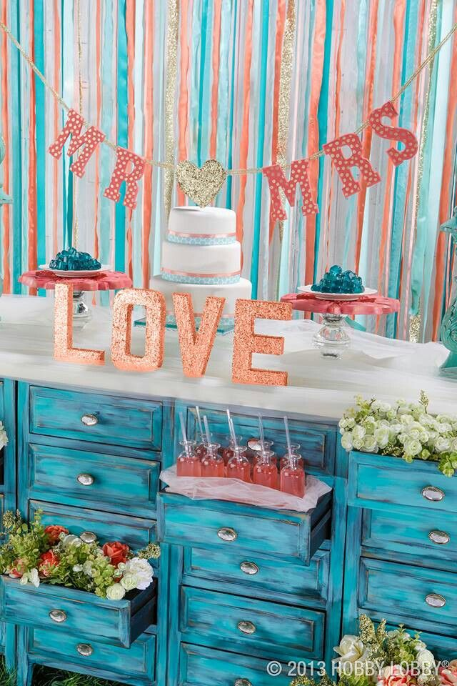Coral And Teal Cake Decorating Party Ideas