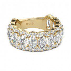 3 CT Okvětní lístky Crown Diamond Klasický styl 18K pozlacený Dámské Ring