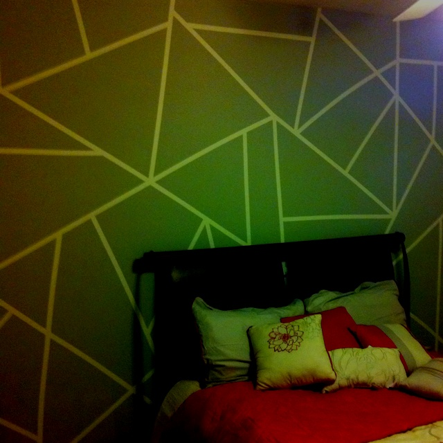 Painting Ideas With Tape: Paint/Tape Wall Design