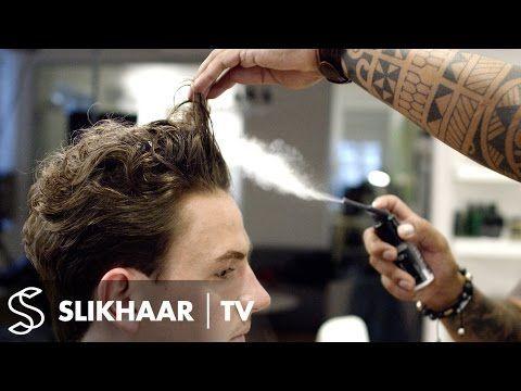 Locken für Herren ★ Glatter, lockiger Look ★ Scheren und Kamm ★ Trend 2016 - YouTube