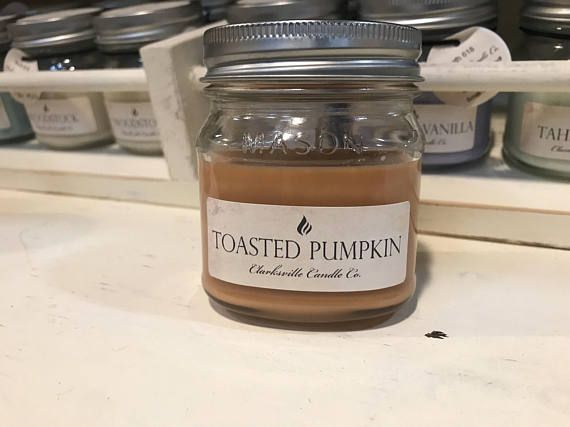Comforting and sweet with just the right amount of spice, our Toasted Pumpkin Spice candle will remind you of autumn festivals, pumpkin carving, and bonfires. Toasty top notes of pumpkin and cloves give way to middle accords of silky buttercream and cinnamon bark. A base of smoked embers and cedarwood gives this scent a warm twist on a classic fall fragrance. This fragrance is infused with natural essential oils, including clove leaf oil, cedarwood oil, copaiba oil, cypress oil, elemi oil…
