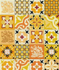 hidráulico 2 (amarelo). kit com 20 adesivos para azulejo. cobre completamente o azulejo original.. Criado por Frauke Meyer / Leo Conrado.
