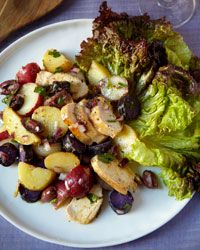 Moroccan Chicken and Potato Salad with Olives