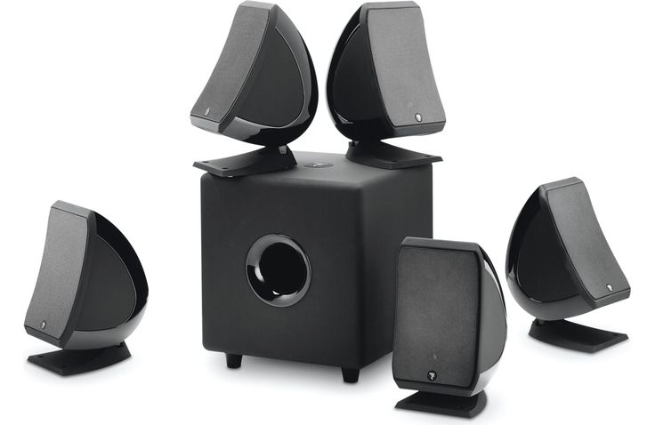 Focal Sib 5.1 Pack With 5 SIB satellite speakers and Cub3 subwoofer