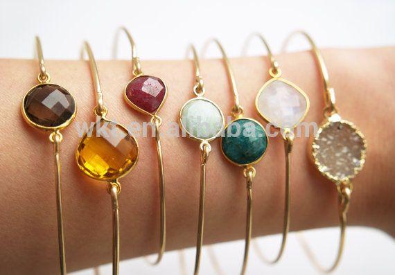 Unieke!!! Edelsteen armband, rookkwarts, citirine, robijn, mint groene amazoniet, smaragd, witte maansteen wt-b060-inarmbanden en armbanden van sieraden op m.dutch.alibaba.com.