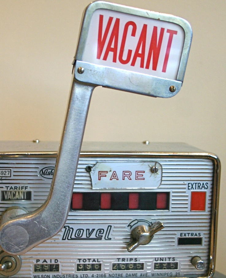 Vintage Taxi Meter by Nishibe
