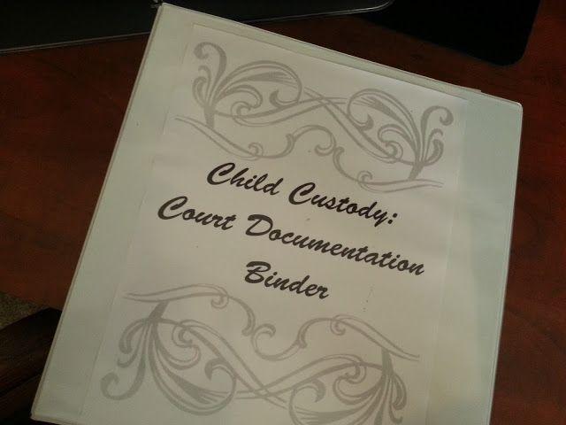 Working Supermom: Child Custody Court Binder. God yes! Finally found something to help organize everything!