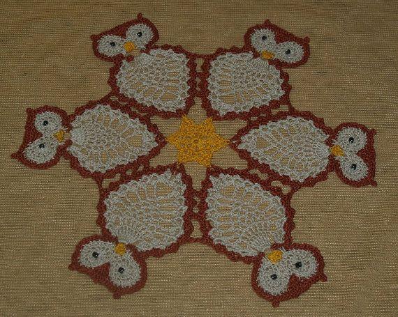 Crochet  Owl  Owls   Doily Pattern by vjf25 on Etsy, $4.95