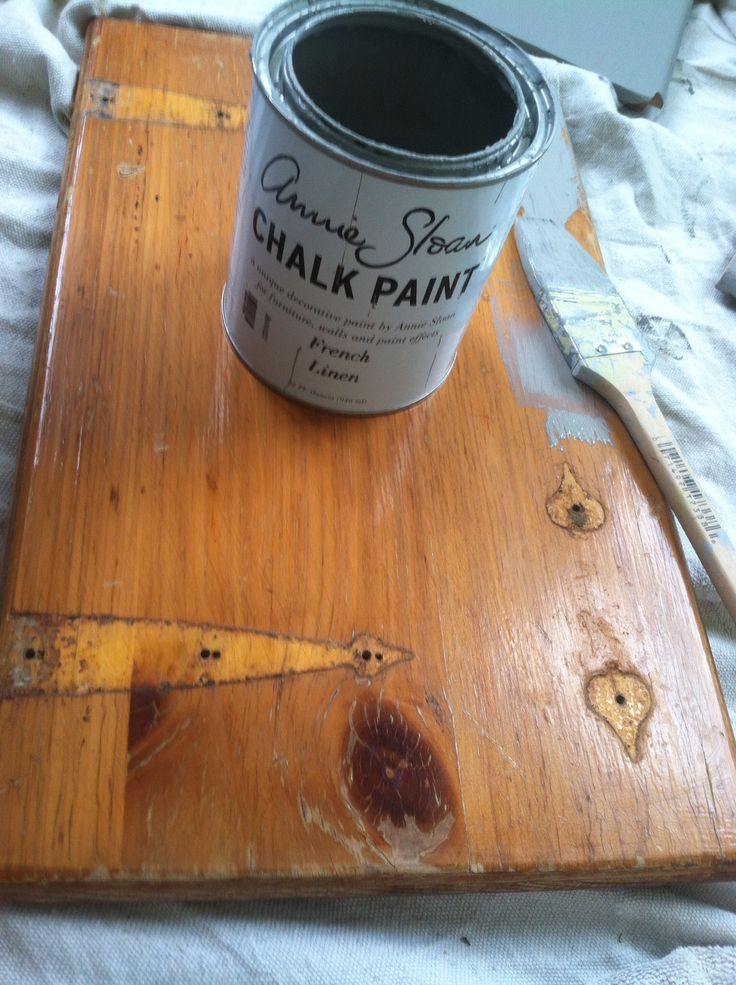 Annie Sloan Chalk Paint In French Linen Over Knotty Pine Kitchen Cabinets House Upgrades